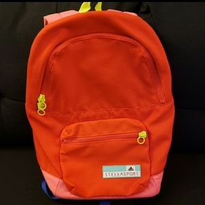 Adidas By Stella McCartney Orange Cotton Backpack
